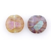 Lamp Bead Coin Large 2Pc 25.5x2.5mm Antique Brown